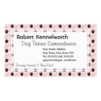 Paws and Bones Funny Design for Dog Lovers Business Card