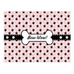 Paws and Bones Funny Design for Dog Lovers Post Cards