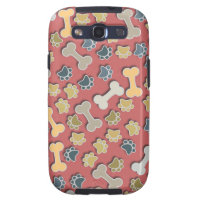 Paws and Bones Peach Samsung Galaxy S3 Case