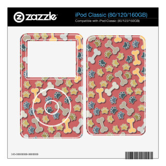 Paws and Bones Peach Skin For The iPod Classic