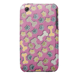 Paws and Bones Pink iPhone 3G/3Gs Case iPhone 3 Case-Mate Case