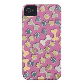 Paws and Bones Pink iPhone 4 Case