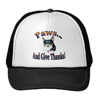 Paws and give thanks  Mist Trucker Hat