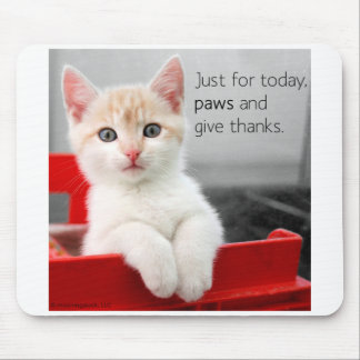 Paws and give thanks mousepad