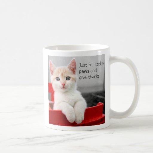Paws and give thanks mug
