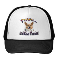 Paws and give thanks trucker hats