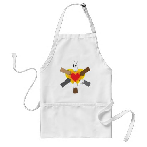 Paws and Heart Aprons