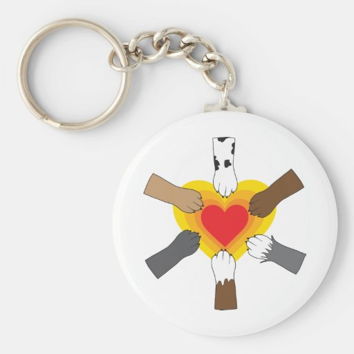 Paws and Heart Key Chains