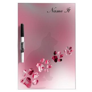 Paws Animal bright Pink Dry-Erase Board