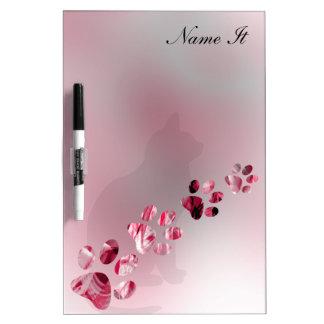 Paws Animal Light Pink Dry-Erase Board