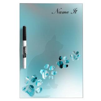 Paws Animal Sea Blue Dry-Erase Board