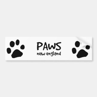 PAWS, bumper sticker, black Bumper Sticker