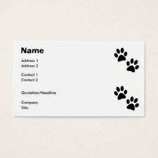 Paws Business Card