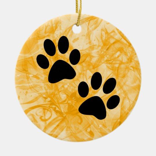 Paws Ceramic Ornament