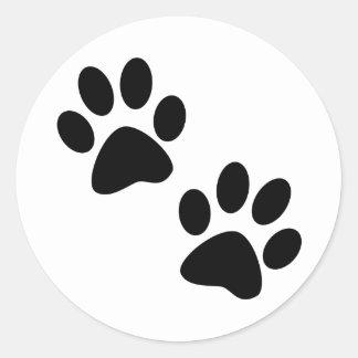Paws Classic Round Sticker