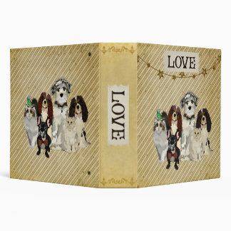 PAWS, CLAWS & FEATHERS LOVE Book 3 Ring Binder