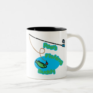 Paw's Fishing Buddy Two-Tone Coffee Mug