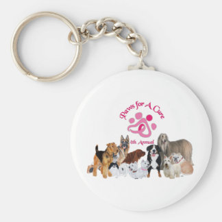 Paws For a Cure Dog Show Keychains