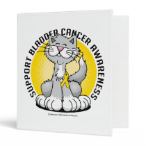 Paws for Bladder Cancer Cat 3 Ring Binder