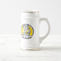 Paws for Bladder Cancer Cat Beer Stein