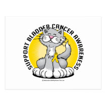Paws for Bladder Cancer Cat Postcard