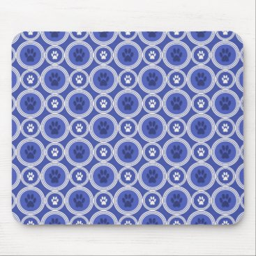 Professional Business Paws-for-Business Mousepad (Cobalt/Navy)