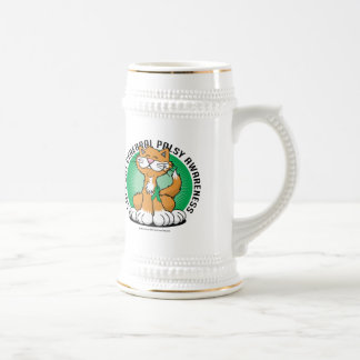 Paws for Cerebral Palsy Cat Beer Stein