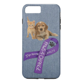 Paws for Change, Stop animal cruelty iPhone 8 Plus/7 Plus Case