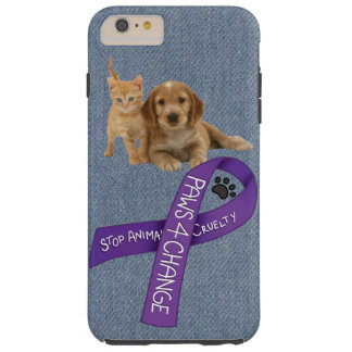 Paws for Change, Stop animal cruelty Tough iPhone 6 Plus Case