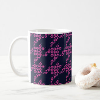 Paws-for-Coffee Mug (Berry/Navy)