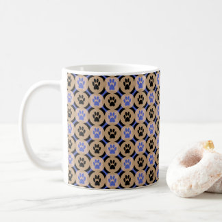 Paws-for-Coffee Mug (Cobalt)