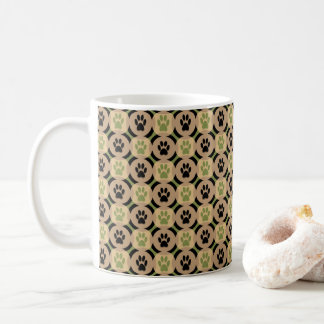 Paws-for-Coffee Mug (Olive)