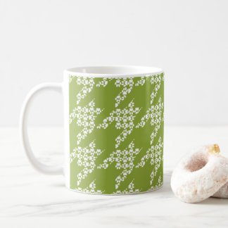 Paws-for-Coffee Mug (Olive/White)