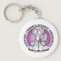 Paws for Crohn's Disease Cat Keychain