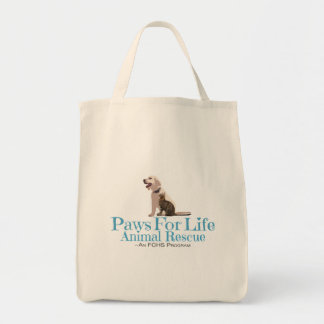 Paws For Life Animal Rescue Grocery Tote Bag