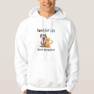 paws-for-life hooded sweatshirt