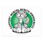 Paws for Mental Health Cat Postcard