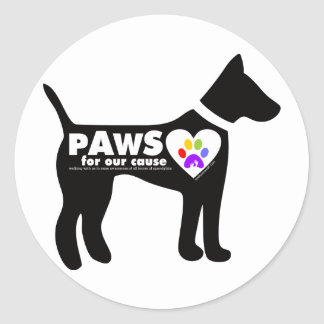 pAwS for our cause Classic Round Sticker