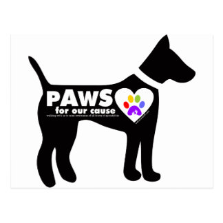 pAwS for our cause Postcard