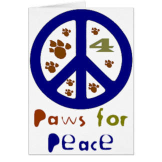 Paws for Peace (Navy) Card