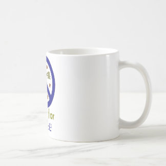 Paws for Peace (Navy) Classic White Coffee Mug