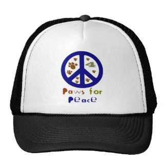 Paws for Peace Navy Trucker Hat