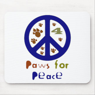 Paws for Peace (Navy) Mouse Pad