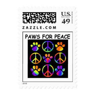 Paws for Peace Postage - Customized