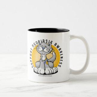 Paws for Psoriasis Two-Tone Coffee Mug