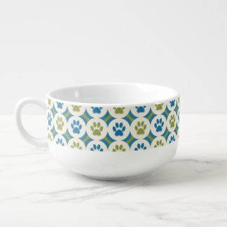 Paws-for-Soup Mug (Olive/Teal)