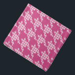 """Paws-for-Style Houndstooth Bandana<br><div class=""""desc"""">Paws-for-style with our unique paws and houndstooth design.  A great gift or stocking stuffer for pet,  pet-lovers and pet care professional. Our bandanas are also available in pawless houndstooth,  so pets can coordinate with their human!</div>"""