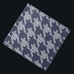 "Paws-for-Style Houndstooth Bandana (Navy)<br><div class=""desc"">Paws-for-style with our unique paws and houndstooth design.  A great gift or stocking stuffer for pet,  pet-lovers and pet care professional. Our bandanas are also available in pawless houndstooth,  so pets can coordinate with their human!</div>"
