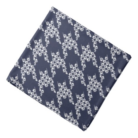 Paws-for-Style Houndstooth Bandana (Navy)