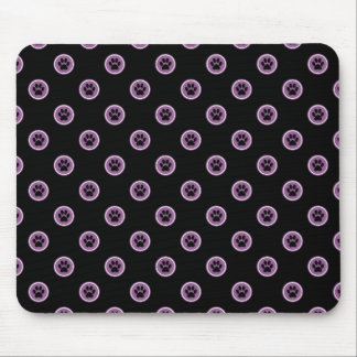 Paws-for-Style Mouse Pad (Plum)